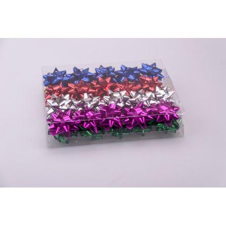 Банти зірочки 6 см кольоровий метал. 40 шт.