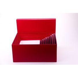 Комплект коробок 10 шт. прямокутні великі червоні
