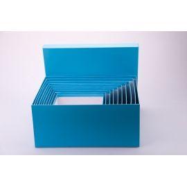 Комплект коробок 10 шт. прямокутні великі блакитні