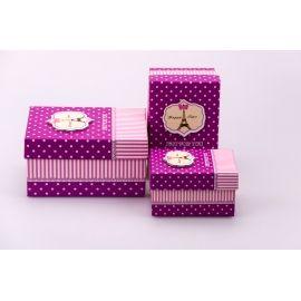 Коробки для подарунків прямокутні «Happy time» 3 шт.