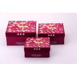 Коробки для подарунків «Чарівний олень» 3 шт.