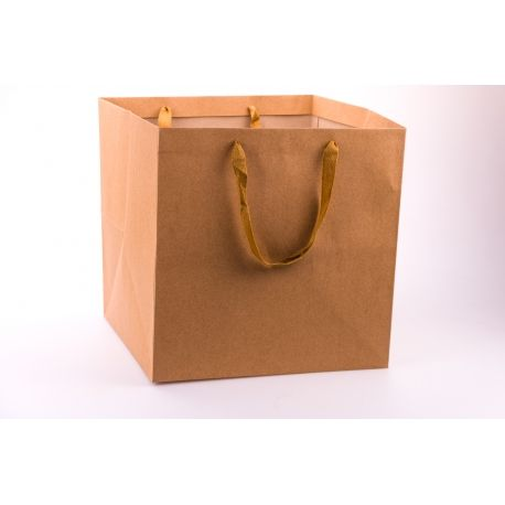 Пакет крафтовий кубічний 25 см.× 25 см. × 25 см.
