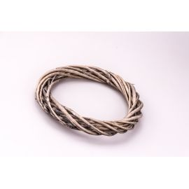 Rattan ring 30 cm. Gray thin
