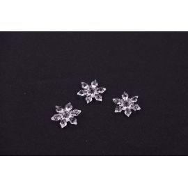 Suspension acrylic snowflake 3 cm.