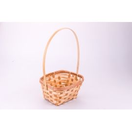 Rectangular basket of wicker