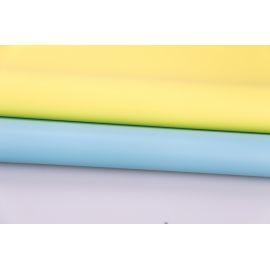 Matte sided film 60 × 60 cm. lemon blue