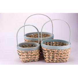 Blue oval baskets 3 pcs.