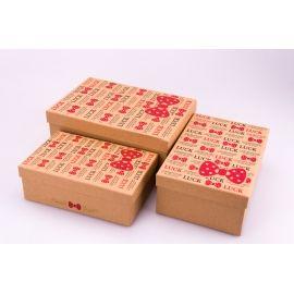 Коробки для подарунків прямокутні крафт 3 шт