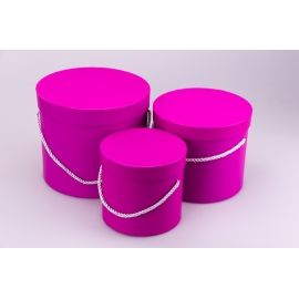 Multicolor tubes 3 pcs.raspberry