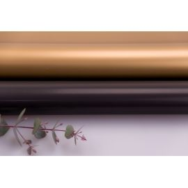 Плівка матова двостороння 60 × 60 см. Antique Gold чорний