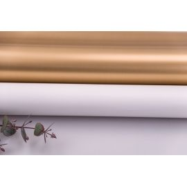 Плівка матова двостороння 60 × 60 см. Antique Gold білий