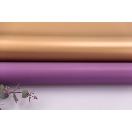 Matte double sided film 60 × 60 cm. Antique Gold violet