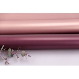 Пленка матовая двосторонняя 60 × 60 см. Pink gold марсала