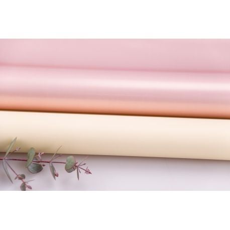 Matte double sided film 60 × 60 cm. Pink gold vanilla