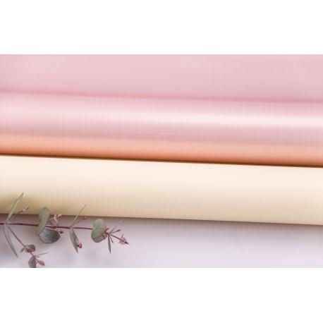 Пленка матовая двосторонняя 60 × 60 см. Pink gold ваниль