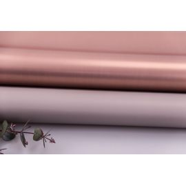 Пленка матовая двосторонняя 60 × 60 см. Pink gold серый