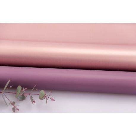 Пленка матовая двосторонняя 60 × 60 см. Pink gold баклажан