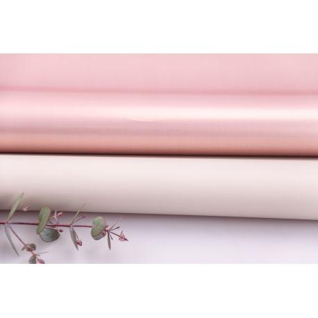 Плівка матова двостороння 60 × 60 см. Pink gold беж