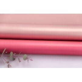 Пленка матовая двосторонняя 60 × 60 см. Pink gold бегония