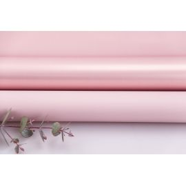 Matte double sided film 60 × 60 cm. Pink gold powder