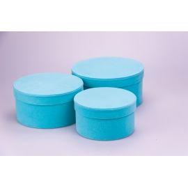 Тубуси оксамитові низькі 3 шт. блакитні