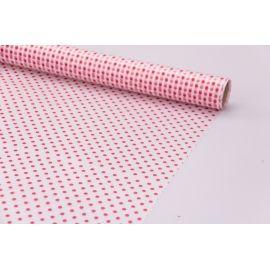 Пленка матовая 0.7 × 10 м. « Горошек красный »