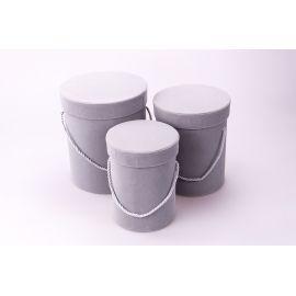 Velvet high tubes 3 pcs (gray)