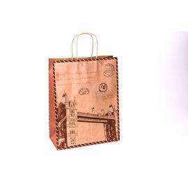 Пакет крафтовий 33 см × 26 см × 12 см « Tower Bridge»
