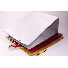 Пакет паперовий однотонний 40 см × 50 см × 20 см « Silver satin »