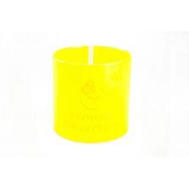 Тубус для квітів пластиковий (жовтий)
