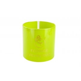 Plastic tube for flowers (green lawn)