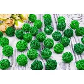 Шар з ротангу (зелений) 3 см
