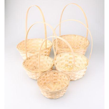 Small natural baskets 3 pcs.