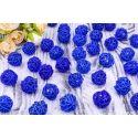 Шар из ротанга ( синий) 3 см