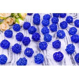 Шар з ротангу (синій) 3 см