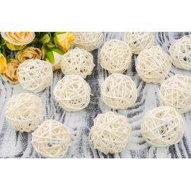 Rattan ball (white) 5 cm