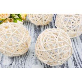 Rattan ball (white) 10 cm