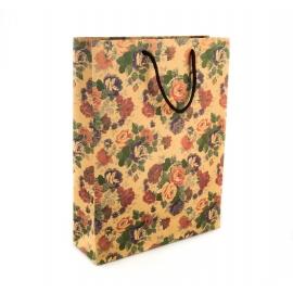 Пакет крафтовый большой 40 см.× 50 см. × 15 см. « В цветах »