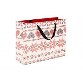 "Cardboard bag 31.8 x 25.5 x 10.8 cm. ""Vyshivanka"""