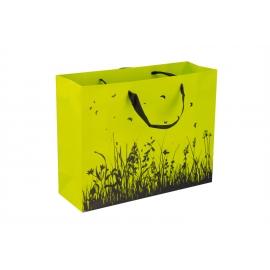 """Пакет картонный 31.8 х 25.5 х 10.8 см.""""Трава лайм"""""""