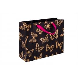 """Пакет картонний 31.8 х 25.5 х 10.8 см """"Золоті метелики"""""""