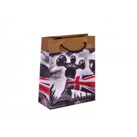 """Пакет картонний 19.6 х 24.5 х 8.8 см.""""London lifestyle """""""
