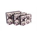 Flamingo rectangular box set 3 pcs