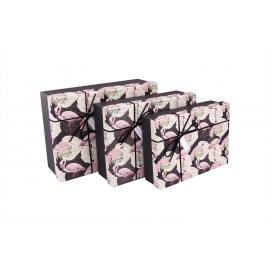 Set of boxes (gray bow) 3 pcs.