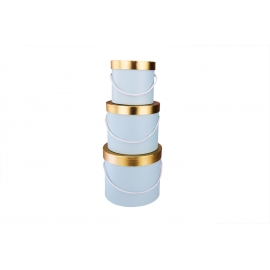 Tubes are low (blue with a golden lid)
