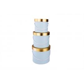 Тубуси низькі (блакитні з золотою кришкою)