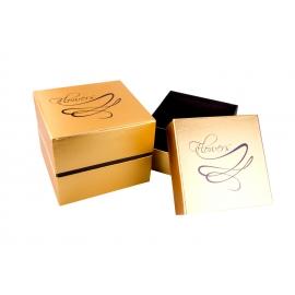 Тубуси із золотою смужкою 3 шт. бірюзові