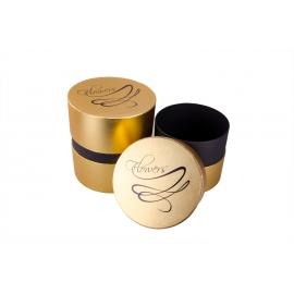 Тубусы из золотой полоской 3 шт. бирюзовые