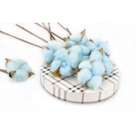 A set of artificial cotton branches (10 pcs)