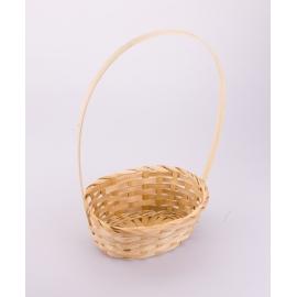 Корзина біла капелюшок 22 см.×17 см.× 30 см.